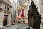 New York Stock Exchange and Statue of George Washington, Manhattan, New York City, New York, USA