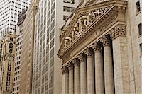stock exchange building - New York Stock Exchange, Manhattan, New York City, New York, USA Stock Photo - Premium Rights-Managednull, Code: 700-03240555
