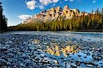 Castle Mountain and Bow River, Banff National Park, Alberta, Canada Stock Photo - Premium Royalty-Free, Artist: Jochen Schlenker, Code: 600-03240639