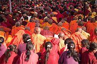 Buddhist monks during prayer in lumbini nepal Stock Photo - Premium Royalty-Freenull, Code: 614-03241220