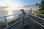 View Finder on Observation Deck at Sunrise, Koenigsstuhl, Jasmund National Park, Island of Ruegen, Mecklenburg-Western Pomerania, Germany Stock Photo - Premium Rights-Managed, Artist: Raimund Linke, Code: 700-03244041