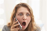 people in panic - Teenager Talking on Cellular Telephone Stock Photo - Premium Royalty-Freenull, Code: 600-03244225
