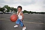 Young Boy Playing Basketball Stock Photo - Premium Rights-Managed, Artist: Steve Prezant, Code: 700-03244344
