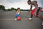 Father and Son Playing Basketball Stock Photo - Premium Rights-Managed, Artist: Steve Prezant, Code: 700-03244345