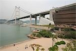 Tsing Ma Bridge and Noah's Ark from Park Island beach, Ma Wan, Hong Kong Stock Photo - Premium Rights-Managed, Artist: Oriental Touch, Code: 855-03252829
