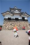 'Hikonyan' mascot of Hikone in front of Hykone-jo castle, Hikone, Shiga Prefecture, Japan Stock Photo - Premium Rights-Managed, Artist: Oriental Touch, Code: 855-03253127