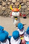 'Hikonyan' mascot of Hikone in front of Hykone-jo castle, Hikone, Shiga Prefecture, Japan Stock Photo - Premium Rights-Managed, Artist: Oriental Touch, Code: 855-03253128