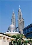 Petrons Tower and National Mosque, Kuala Lumpur, Malaysia