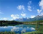 The Rockies and Herbert Lake, Banff National Park, Canada Stock Photo - Premium Rights-Managed, Artist: Oriental Touch, Code: 855-03255013