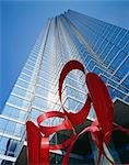 Red sculpture at NCNB Plaza, Dallas, Texas, USA Stock Photo - Premium Rights-Managed, Artist: Oriental Touch, Code: 855-03255086