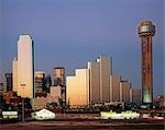 City skyline at dusk, Dallas, USA Stock Photo - Premium Rights-Managed, Artist: Oriental Touch, Code: 855-03255089