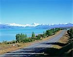 Lake Pukaki and Mt.Cook,The Southern Alps Mountain Range, New Zealand Stock Photo - Premium Rights-Managed, Artist: Oriental Touch, Code: 855-03255216