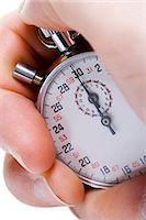 stop watch - Hand with stopwatch Stock Photo - Premium Royalty-Freenull, Code: 640-03255930