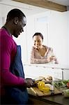A couple preparing food Stock Photo - Premium Royalty-Free, Artist: foodanddrinkphotos, Code: 640-03256028