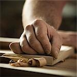 USA, Utah, Orem, close-up of carpenter at work Stock Photo - Premium Royalty-Free, Artist: Bryan Reinhart           , Code: 640-03256973