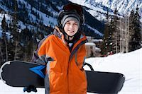 Male snowboarder Stock Photo - Premium Royalty-Freenull, Code: 640-03264192