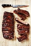 Cooked Ribs on Cutting Board Stock Photo - Premium Rights-Managed, Artist: Angus Fergusson, Code: 700-03265803