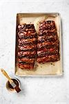 Ribs in Baking Tray Stock Photo - Premium Rights-Managed, Artist: Angus Fergusson, Code: 700-03265805