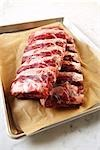 Uncooked Ribs in Baking Tray Stock Photo - Premium Rights-Managed, Artist: Angus Fergusson, Code: 700-03265808