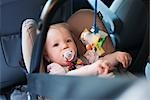 Baby Girl in Car Seat Stock Photo - Premium Royalty-Free, Artist: I. Jonsson, Code: 600-03284222