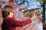 Close-up of Boy Holding Trumpet