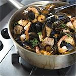 Seafood stew Stock Photo - Premium Rights-Managed, Artist: foodanddrinkphotos, Code: 824-03285159