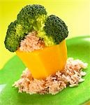 Broccoli tree with rice/ children menu ( with recipe) Stock Photo - Premium Rights-Managed, Artist: foodanddrinkphotos, Code: 824-03285428
