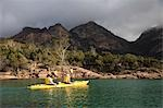 Sea kayaking in Coles Bay on the Freycinet Peninsula Stock Photo - Premium Rights-Managed, Artist: AWL Images, Code: 862-03288962