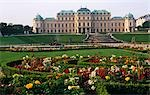 Austria,Vienna,Belvedere Palace. The Belvedere is a baroque palace complex built by Prince Eugene of Savoy in the 3rd district of Vienna,south-east of the city centre. Stock Photo - Premium Rights-Managed, Artist: AWL Images, Code: 862-03289250