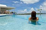 The infinity pool and cabana at Little Whale Cay . . Stock Photo - Premium Rights-Managed, Artist: AWL Images, Code: 862-03289289