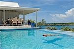 The infinity pool and cabana at Little Whale Cay . . Stock Photo - Premium Rights-Managed, Artist: AWL Images, Code: 862-03289350