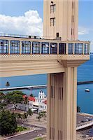 Brazil,Bahia,Salvador. Within the historic Old City,a UNESCO World Heritage site,the Elevador Lacerda that connects the upper town (Cidade Alta) to the lower town (Cidade Baixa). Stock Photo - Premium Rights-Managednull, Code: 862-03289760