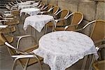 Tables and Chairs, El Rastro Market, Madrid, Spain Stock Photo - Premium Royalty-Free, Artist: Grant Harder, Code: 600-03289997