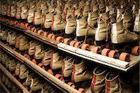 roller skate - Row of Roller Skates on Shelf Stock Photo - Premium Rights-Managednull, Code: 700-032900