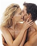 Close-up of Nude Couple Embracing Stock Photo - Premium Rights-Managed, Artist: Harald Vorsteher, Code: 700-03290111