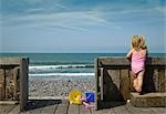 Girl Looking at Ocean Stock Photo - Premium Rights-Managed, Artist: Hugh Burden, Code: 700-03290130