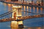 Chain Bridge and Danube River, Budapest, Hungary Stock Photo - Premium Rights-Managed, Artist: Rudy Sulgan, Code: 700-03290162