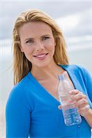 Woman Drinking a Bottle of Water Stock Photo - Premium Rights-Managednull, Code: 700-03290263