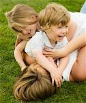 A mother playing with her children Stock Photo - Premium Royalty-Free, Artist: AWL Images, Code: 649-03294358