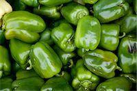 Organic Green Peppers, Penticton, Okanagan Valley, British Columbia, Canada Stock Photo - Premium Royalty-Freenull, Code: 600-03294794