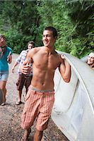Group of Friends with Canoe, Oregon, USA Stock Photo - Premium Royalty-Freenull, Code: 600-03294922