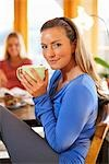 Young Woman Drinking a Cup of Tea Stock Photo - Premium Rights-Managed, Artist: Ty Milford, Code: 700-03294984
