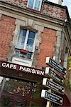 Cafe Sign, Place du Rhin et Danube , Paris, Ile-de-France, France Stock Photo - Premium Rights-Managed, Artist: Damir Frkovic, Code: 700-03295333