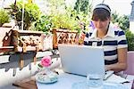 Woman Using Laptop on Outdoor Balcony Stock Photo - Premium Rights-Managed, Artist: Klick, Code: 700-03298863