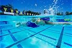 Female swimmer in pool Stock Photo - Premium Royalty-Freenull, Code: 693-03299706