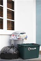 Garbage containers outside building Stock Photo - Premium Royalty-Freenull, Code: 693-03305212