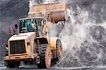 Front loader dumping mineral material on heap Stock Photo - Premium Royalty-Free, Artist: Albert Normandin, Code: 693-03309617