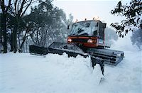 snow plow truck - Snow clearing tractor, Mt Baw Baw, Victoria, Australia Stock Photo - Premium Royalty-Freenull, Code: 693-03310542