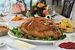 Thanksgivig dinner on table Stock Photo - Premium Royalty-Free, Artist: Susan Findlay, Code: 693-03312127