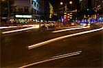 Traffic Light Trails in City Stock Photo - Premium Royalty-Freenull, Code: 693-03313031